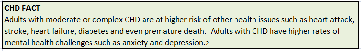 CHD FACT: Health risks for adults with CHD