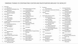 International contributing centers and investigators
