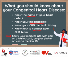 Tips for what adults living with CHD need to know